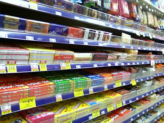 aisle at the candy store