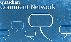 badge for the Guardian Comment Network