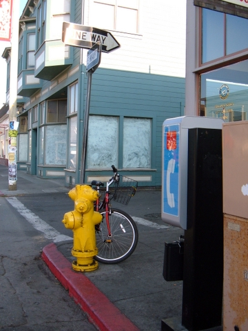 Headlands Coffeehouse payphone