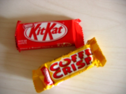 canadian kitkat and coffee crisp