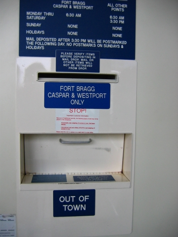 post office lobby drop box
