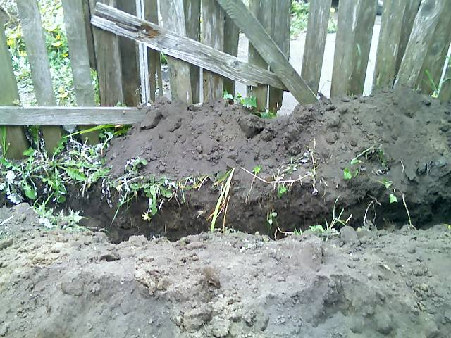 trench in my yard