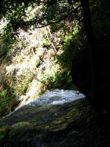 waterfall at russian gulch